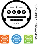 utility meter icon | Shutterstock .eps vector #713347618