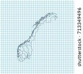 map of norway   Shutterstock .eps vector #713349496