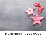 christmas greeting card with... | Shutterstock . vector #713349988