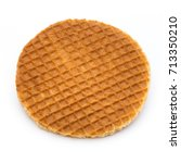 stroopwafels or dutch waffles... | Shutterstock . vector #713350210