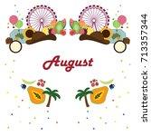 vector illustration for august... | Shutterstock .eps vector #713357344