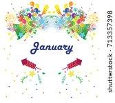 vector illustration for january ... | Shutterstock .eps vector #713357398