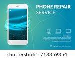 phone repair service banner... | Shutterstock .eps vector #713359354