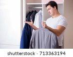 young man businessman getting... | Shutterstock . vector #713363194