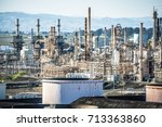 mega structures of large oil... | Shutterstock . vector #713363860