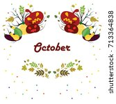 vector illustration for october ... | Shutterstock .eps vector #713364838