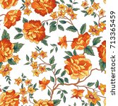 floral pattern. flower seamless ... | Shutterstock .eps vector #713365459