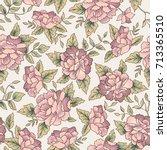 Stock vector floral pattern flower seamless background flourish ornamental garden 713365510