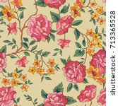 floral seamless pattern. flower ... | Shutterstock .eps vector #713365528