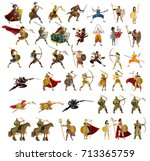 warriors collection   Shutterstock .eps vector #713365759