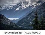 white pass mountains in british ...   Shutterstock . vector #713370910