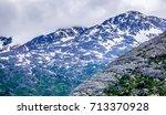 white pass mountains in british ...   Shutterstock . vector #713370928