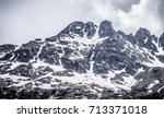 white pass mountains in british ...   Shutterstock . vector #713371018
