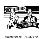 cocktail lounge and restaurant  ... | Shutterstock .eps vector #71337172
