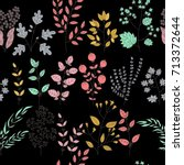 vector flower pattern. colorful ... | Shutterstock .eps vector #713372644