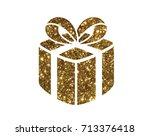 the isolated glitter golden... | Shutterstock .eps vector #713376418