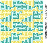 seamless lines  technology... | Shutterstock .eps vector #713379289