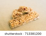 cereal granola bars against... | Shutterstock . vector #713381200