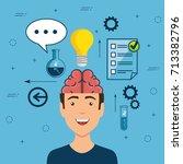 design thinking creative ideas... | Shutterstock .eps vector #713382796