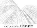 architecture 3d illustration | Shutterstock . vector #713383828