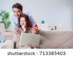 romantic concept with man... | Shutterstock . vector #713385403