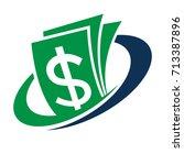 icon logo for financial... | Shutterstock .eps vector #713387896