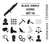 camcorder  handcuffs  lattice... | Shutterstock .eps vector #713393368