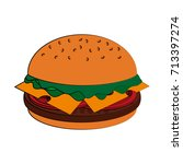 fast food icon image  | Shutterstock .eps vector #713397274