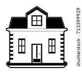 brick house or home icon image  | Shutterstock .eps vector #713399929