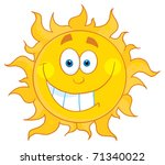 happy smiling sun mascot... | Shutterstock . vector #71340022