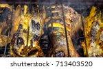 indonesian traditional recipe... | Shutterstock . vector #713403520