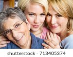family of three generation of... | Shutterstock . vector #713405374