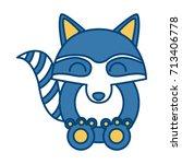 racoon animal cartoon | Shutterstock .eps vector #713406778