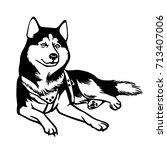 husky   Shutterstock .eps vector #713407006