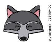 racoon animal cartoon | Shutterstock .eps vector #713409400