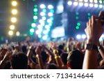 defocused entertainment concert ... | Shutterstock . vector #713414644