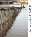 Flooded River  York  England.