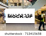 blank billboards located in... | Shutterstock . vector #713415658