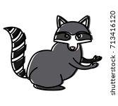 racoon animal cartoon | Shutterstock .eps vector #713416120