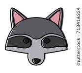 racoon animal cartoon | Shutterstock .eps vector #713416324