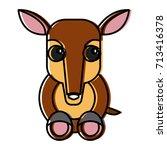 anteater animal cartoon | Shutterstock .eps vector #713416378