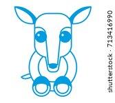 anteater animal cartoon | Shutterstock .eps vector #713416990