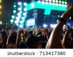 defocused entertainment concert ... | Shutterstock . vector #713417380