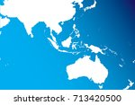 the map of asian  and australia ...   Shutterstock .eps vector #713420500