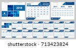 calendar 2018 template week... | Shutterstock .eps vector #713423824