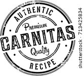 vintage authentic pork carnitas ... | Shutterstock .eps vector #713425834