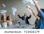 business people celebrating by...   Shutterstock . vector #713426179