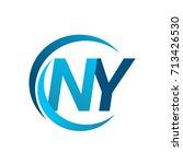 initial letter ny logotype...   Shutterstock .eps vector #713426530