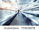 escalator inside | Shutterstock . vector #713428078