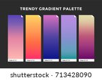 trendy gradient swatches.... | Shutterstock .eps vector #713428090